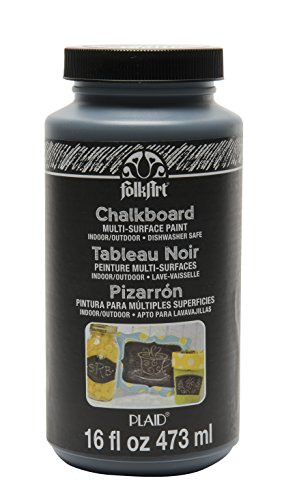 FolkArt Multi-Surface Chalkboard Paint (16 Ounce), 2725 Black