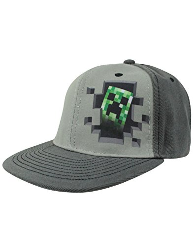 Official Minecraft Creeper Inside Snapback Cap (M-L) (Minecraft Creeper Cap compare prices)