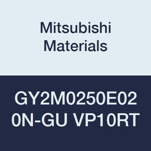 Mitsubishi Materials GY2M0250E020N-GU VP10RT Carbide Grooving Insert Sintered Peripheral Neutral Hand 2 Teeth E Seat Size Pack of 10 0.098 Grooving Width Coated 0.008 Corner Radius