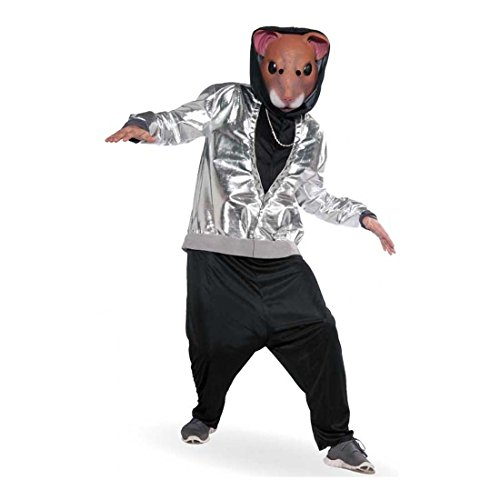 Hamster Costume Adult Hip Hop Funny Halloween Fancy Dress + Mask by Unknown
