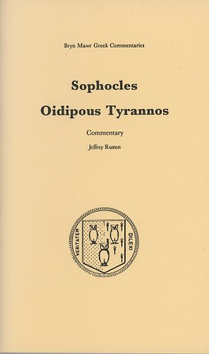 Oidipous Tyrannos  Commentary  2 Volume Set  Bryn Mawr Commentaries  Greek
