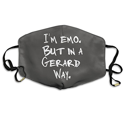 Iâ€M EMO BUT IN A GERARD WAY Face Mouth Mask Cover With Adjustable Straps For Man And Woman ()