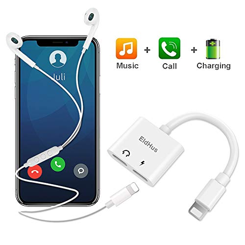 Adapter & Splitter, Dual Headphone Audio & Charge Adapter,2 in 1 Dual Adapter for Jack Call + Sync + Charging + Music for IP X/8/8Plus/7/7Plus