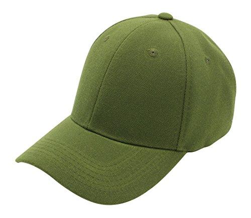 Top Level Baseball Cap Hat Men Women - Classic Adjustable Plain Blank, OLV