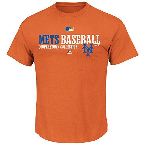 MLB Baseball T-Shirt NEW YORK NY METS Team Property Cooperstown in L (LARGE) Majestic