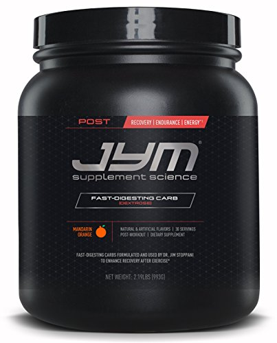 Post JYM Fast-Digesting Carb - Post-Workout Recovery Pure Dextrose | JYM Supplement Science | Mandarin Orange Flavor, 30 Servings