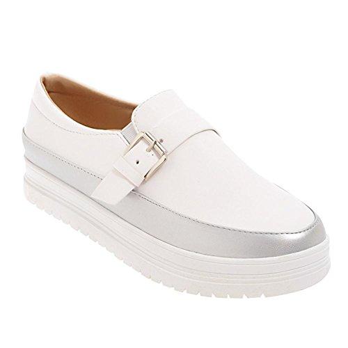Mee Shoes Damen Geschlossen slip on zweifarbig Loafers Silber
