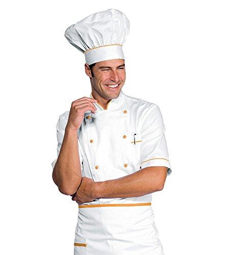 Mezza Manica Isacco Giacca Cuoco Alicante Bianco+Albicocca Bianco+Albicocca S 100/% Cotone