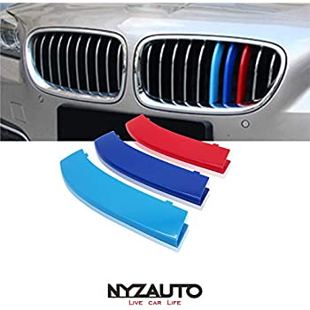 iJDMTOY Exact Fit //////M-Colored Grille Insert Trims Compatible With 2009-2016 BMW E89 Z4 with 9-Beam ONLY
