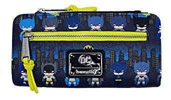 Loungefly x Batman 80th Anniversary Gotham City Chibi Wallet (Multicolored, One Size) (Batman Womens Wallet)