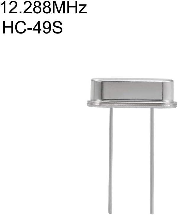 sourcing map DIP Quartz Crystal Oscillators Resonators 7.3728MHz HC-49S Replacements 5 Pcs