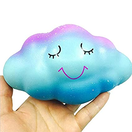 Rainbow Cloud Cream Scented Slow Rising Squeeze Toys Phone Charm Kids Squishies Toys