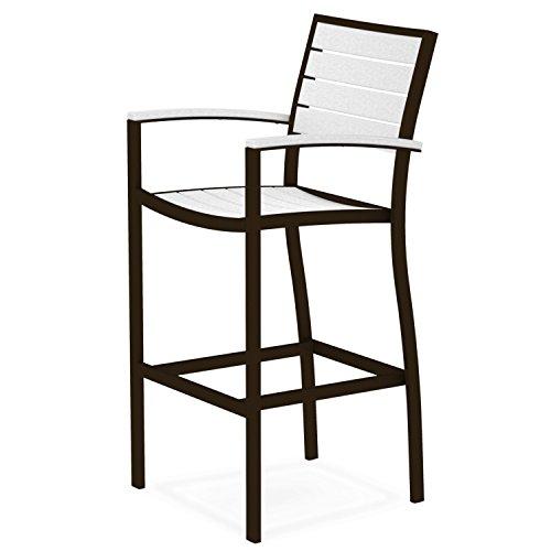 Arm Euro Bar Stool - POLYWOOD Euro Bar Arm Chair - Textured Bronze Frame