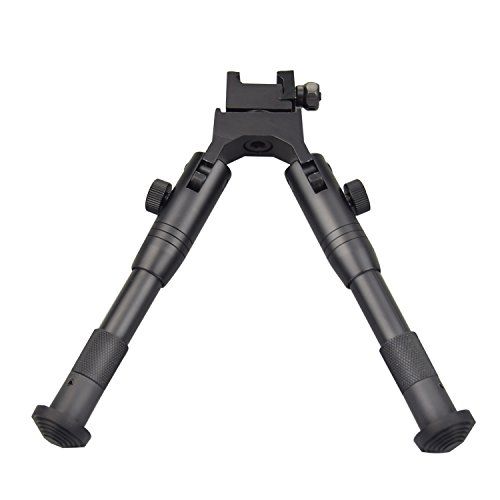 Twod Tactical Rifle Bipod Adjustable 6.3- 6.9 inch with Swivel Stud Mount & Extra Adapter
