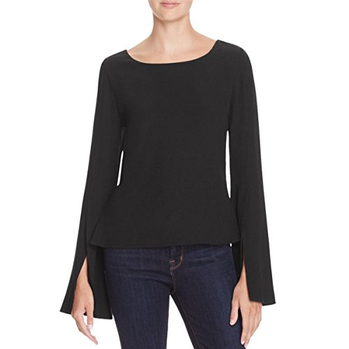 Ramy Brook Womens Side Slit Bell Sleeves Blouse Black S by Ramy Brook