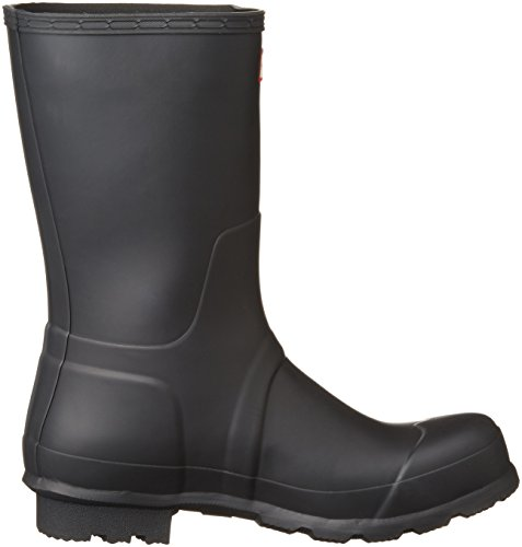 Rubber Men's Short Original Calf Boot Mid Black Hunter SOxw4Hw