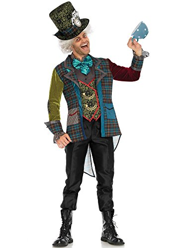 Leg Avenue Men's Mad Hatter Wonderland Costume, Multi, Medium