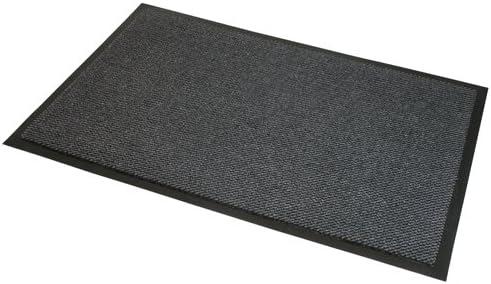 JVL - Felpudo Antideslizante de Goma para Puerta, de Vinilo, Gris/Negro, 80 x 120 cm, Grande: Amazon.es: Hogar
