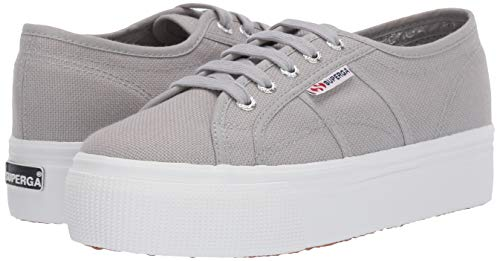 Superga womens 2790 Acotw Platform Fashion Sneaker, Light Grey, 8.5 US