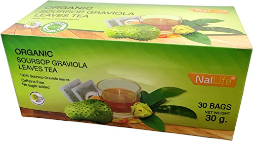 NalLife Organic Soursop Graviola Leaves Tea Pack of 30 Bags by NalLife