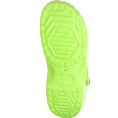 Pantoletten grün Grün ConWay Clogs Damen qTYwTCEx7