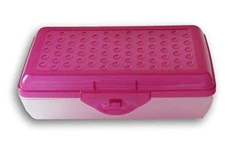 Casemate Fuschia Pink Transparent Dots Pencil Case Box (Box Pencil School)