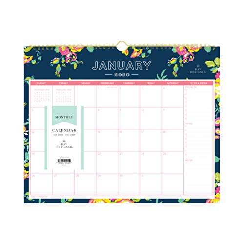 Day Designer for Blue Sky 2020 Monthly Wall Calendar, Twin-Wire Binding, 15