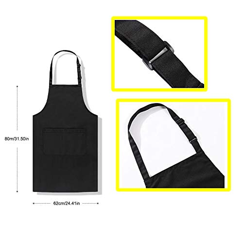 Adjustable apron, black apron, machine washable, can be used in kitchen, craft 3
