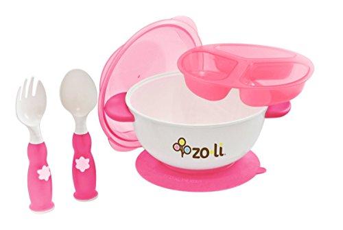 ZoLi STUCK Suction Feeding Bowl Kit - Pink by Zo·Li