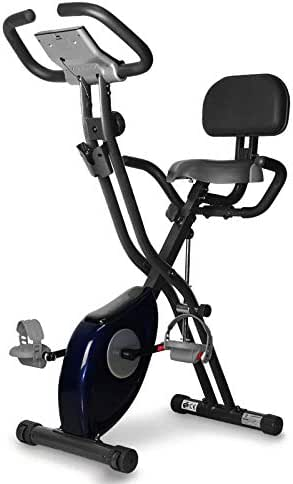 DRLGC Folding Magnetic Exercise Bike, Upright with Heart Rate Trainer Fitness Equipment, Indoor Pedal Exercise Bike, Adjustable Seat for Cardio and Strength Training