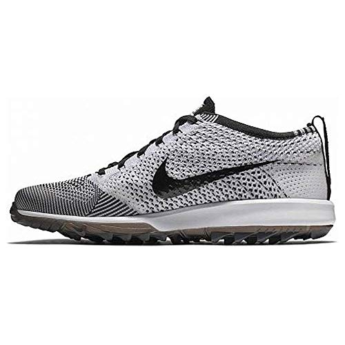 Nike Flyknit Racer G Spikeless Golf Shoes 2018 Black/White Medium 10.5