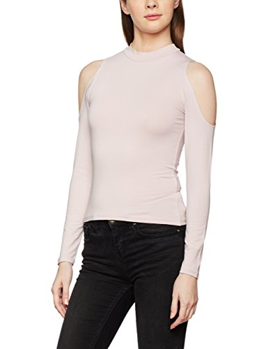 Look light Pink Rosa Shoulder New Cold Donna Camicia dP0YPgwq