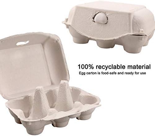 20 Pack SLHZA paper egg cartons,Biodegradable Egg Carton 6 Cell ...