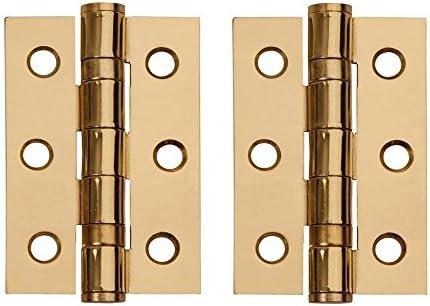 Brass plated Butt Hinge 75mm 3pk