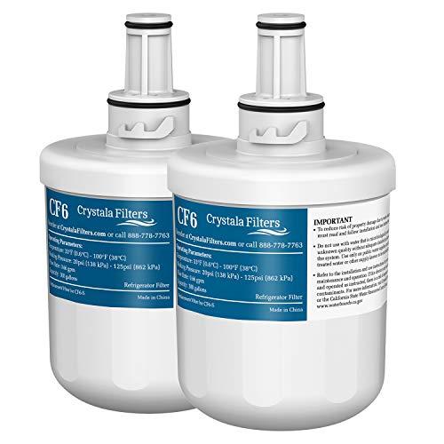DA29-00003G Refrigerator Water Filter Replacement for Samsung DA29-00003G, Aqua-Pure Plus DA29-00003B, HAFCU1, DA29-00003A by Crystala Filters - 2 Pack