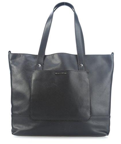 Marc O'Polo Copenhagen Shopper Borsa tote pelle 35 cm black_black, schwarz