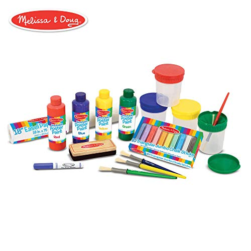 (Melissa & Doug Easel Companion Accessory Set (Arts & Crafts, Promotes Creativity, 25 Pieces, 10.5