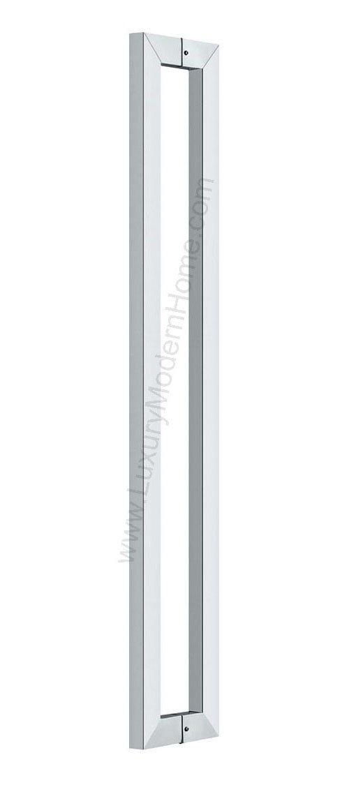 dh - 24'' Rectangular Tube Pull Shower Door Handle Square Stainless Steel 304