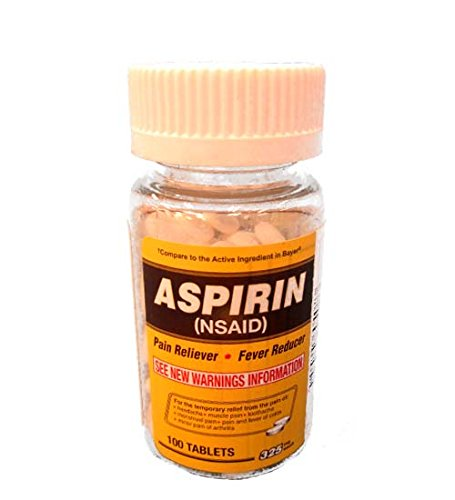 Aspirin 100 Tablets 325mg, Case of 72 by DollarItemDirect