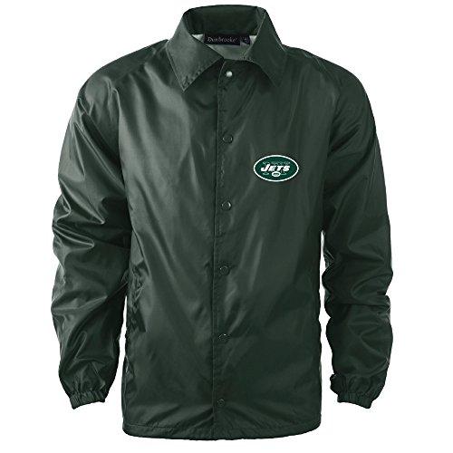 NFL New York Jets Men's Coaches Windbreaker Jacket, 2X, Forest