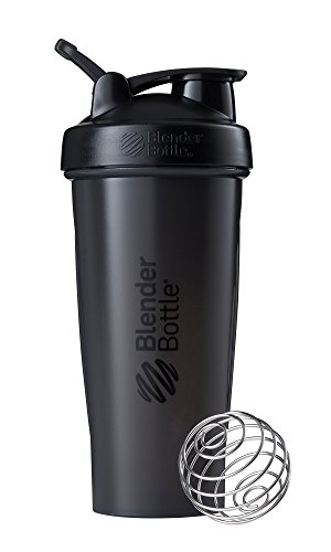(BlenderBottle Classic Loop Top Shaker Bottle, 28-Ounce, Full Color Black)