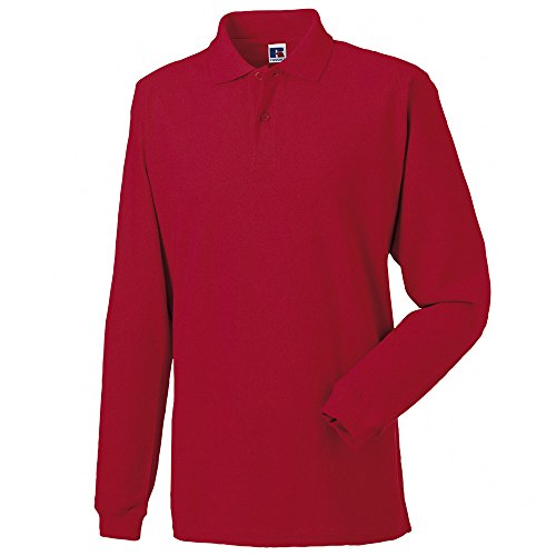 Jerzees Long Sleeve 100% Cotton Pique Polo Shirts