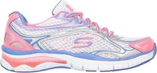 Skechers Sport luces de neón de la zapatilla de deporte de la manera White/Pink