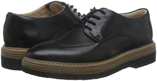 Clarks Leather Mujer Zara Zapatos Para black Negro De Vestir Zante qq1Cf