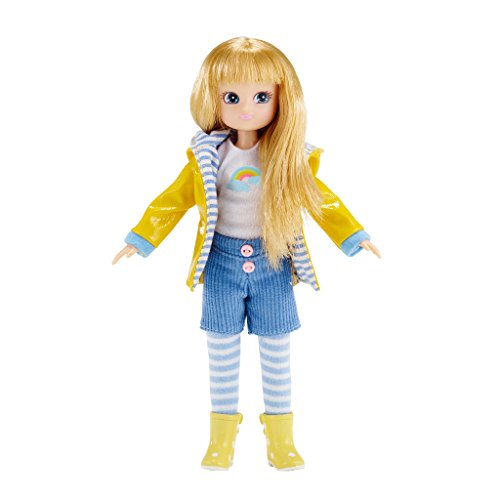 Lottie Muddy Puddles Doll Blonde Hair and Blue Eyes -