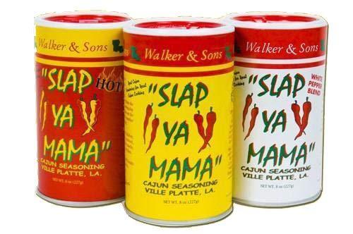 Walker & Sons Slap Ya Mama Cajun Seasoning, Pack of 3, 8oz (Premium pack)