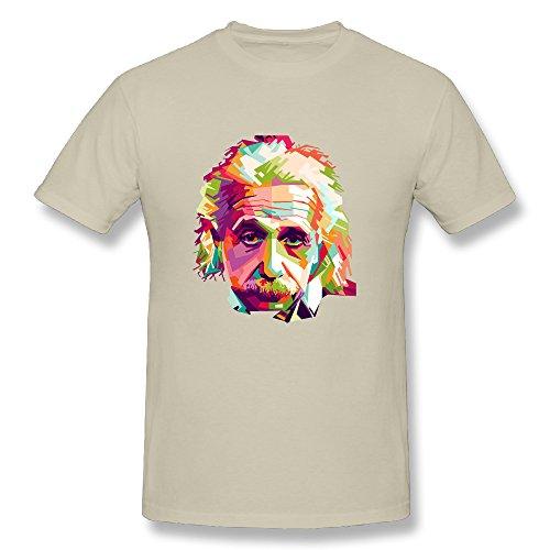 JAX Men's Personalized Tshirt Einstein L Natural
