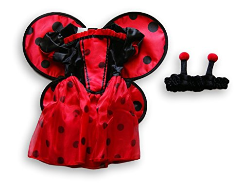 Ladybug Costume Babies R Us (Koala Kids Girls 2 Piece Red/Black Ladybug Costume with Headband- 3/6 Months)