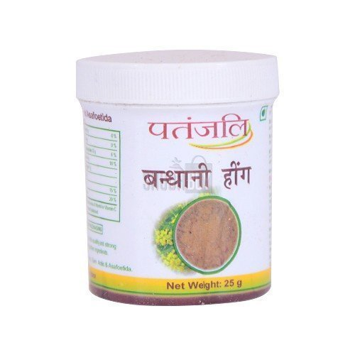 Patanjali BANDHANI HING ASAFOETIDA POWDER COMPOUNDED FOR Digestion 25gm (pack of 3)