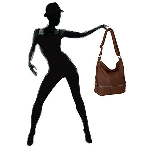 Format Small Womens CASPAR TS732 A4 Bag Bag Brown Messenger for Shoulder qBFzwxFO